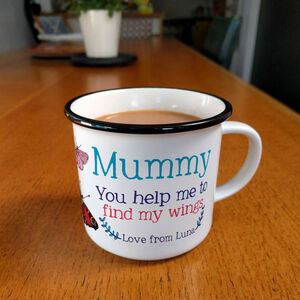 Personalised Mummy You Help Me To Find My Wings Mug