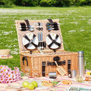 Rocamadour Luxury Six Person Wicker Picnic Hamper