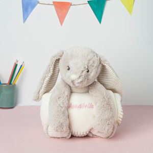 Personalised Large Rabbit With Blanket