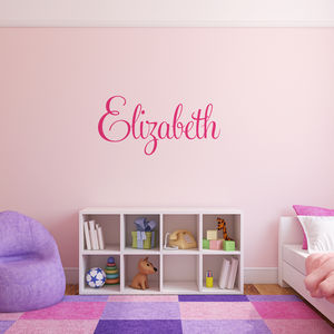 Personalised Name Wall Stickers - decorative accessories