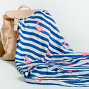Flamingo Muslin with Changing Bag