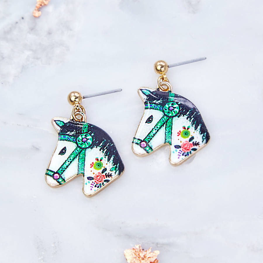 Horse Drop Earrings