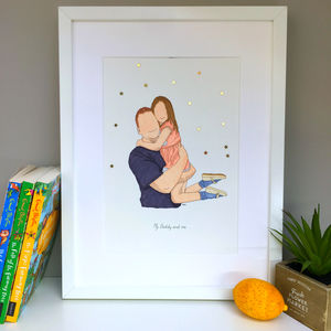 Personalised Father And Child/Ren Portrait Illustration - children's pictures & paintings
