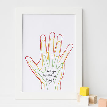 Colourful Hands Art Print * First Father's Day Gift