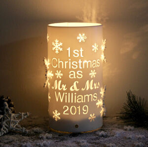 Personalised First Christmas As Mr And Mrs LED Light