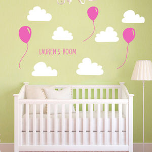 Personalised Balloons/Rocket Wall Stickers - home accessories