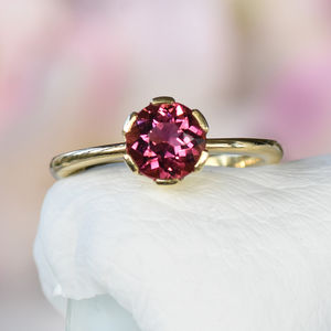 Tourmaline Ring In 18ct Gold Handmade To Size - view all fine jewellery