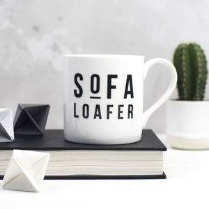 Sofa Loafer Bone China Mug