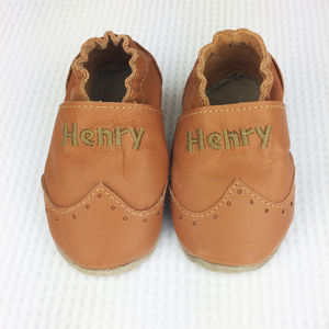 Personalised Brogue Baby Shoes - clothing