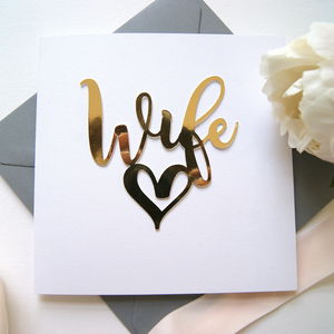 To My Wife Card - wedding cards