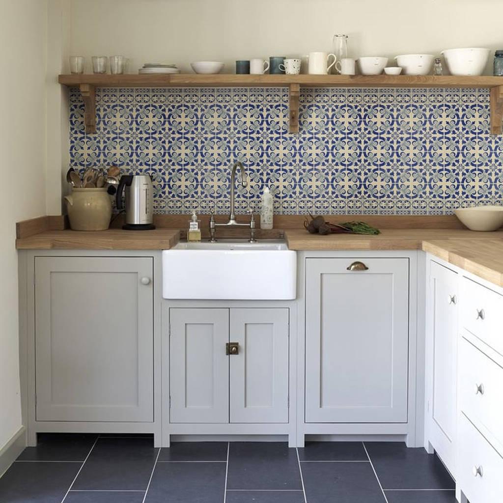 Delft Kitchen Walls Backsplash Wallpaper By Lime Lace