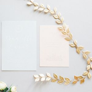Gold Botanical Leaf Hair Vine