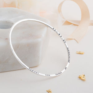 Personalised Message Bangle - gifts for mothers