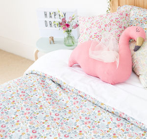 Liberty Print Cot Duvet Cover In Betsy - bedroom