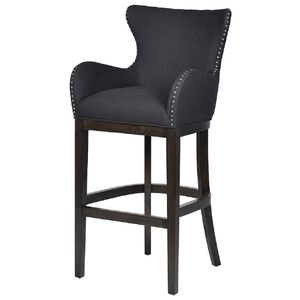Black Cotton Kitchen Barstool