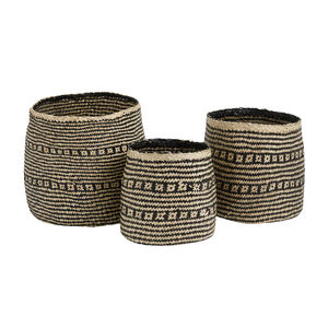 Set Of Three Seagrass Baskets