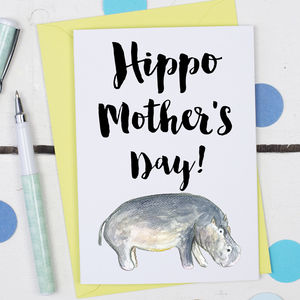 Hippo Mother's Day, Card