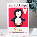 Personalised Penguin Valentine's Card