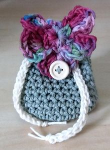 Handmade Cotton Drawstring Purse