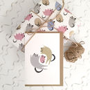 Baby girl newborn card