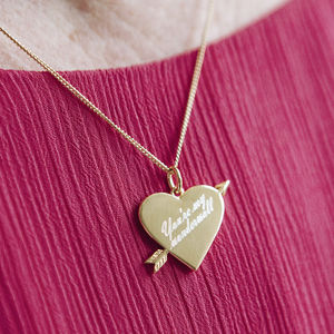 Personalised Song Lyrics Heart Necklace - gifts for her