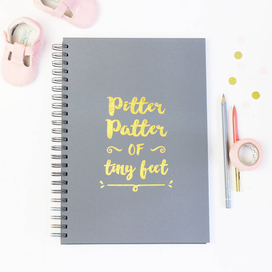 personalised pitter patter baby memory book by martha brook