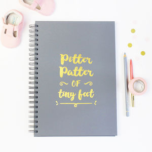 Personalised 'Pitter Patter' Baby Memory Book - baby shower gifts