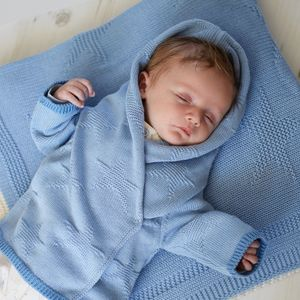 Baby Boy Blue Grey Star Cardigan