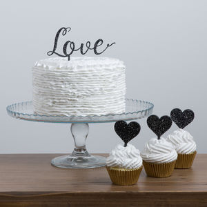 Script Love Cake Topper And Cupcake Picks Set