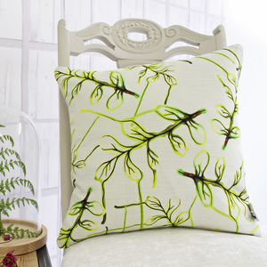 Inky Stems Botanical Print Cushion - cushions