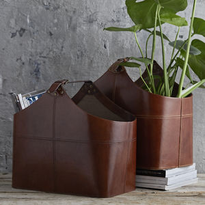 Leather Basket - storage