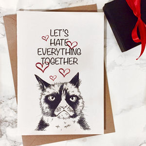 Let's Hate Everything Together Valentines Card - shop by category