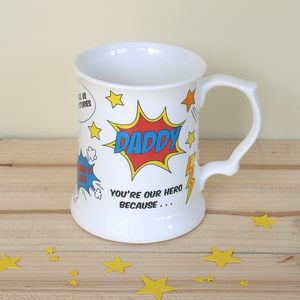 Personalised Hero Daddy Pint Tankard