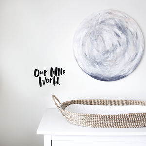 'Our Little World' Hand Lettered Wall Decal