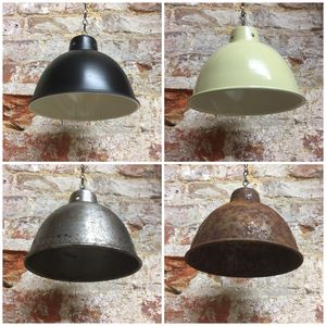Small Enamel Metal Lampshade Pendant Lamp