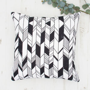 Geometric Chevron Print Cushion