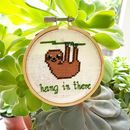 'Hang In There' Mini Cross Stitch Kit
