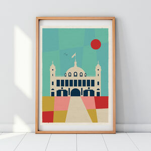 Spanish City Whitley Bay Dome Art Print Poster