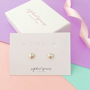 Personalised Silver Heart Earrings - earrings