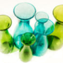 Recycled Bubble Glass Small And Medium Carafes