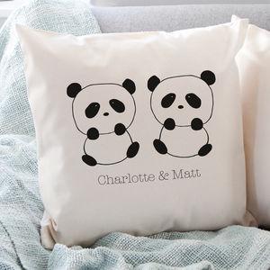 Personalised Panda Love Cushion - new in