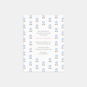 Blossom Christening Invitations - naming day & christening invitations