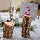Winter Berry Wedding Table Numbers