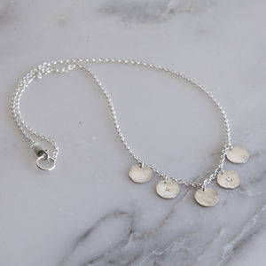 Personalised Silver Coin Charm Necklace