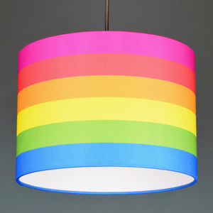 Unicorn Stripe Drum Lampshade Choice Of Linings