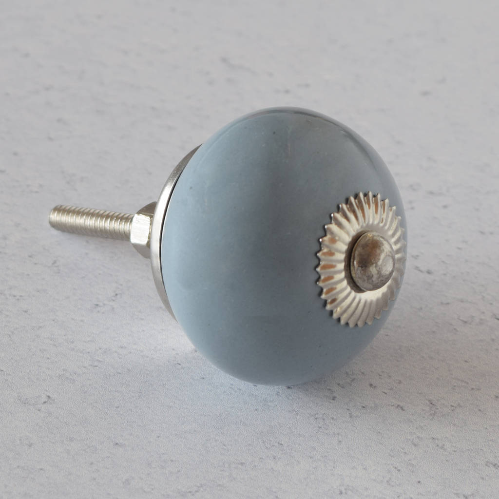 Grey Ceramic Cupboard Knob