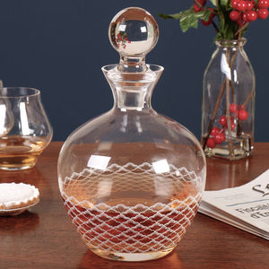 Homme Elegant Decorated Whiskey Carafe