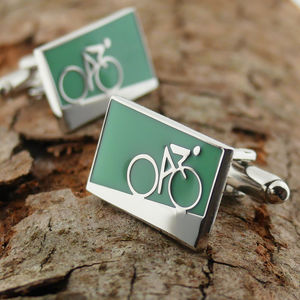 Cycling Cufflinks Uphill And Downhill - men's accessories