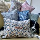 Cushion Embroidered Liberty Print Personalisation