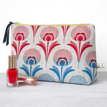 Ombre Dandelion Print Make Up Bag